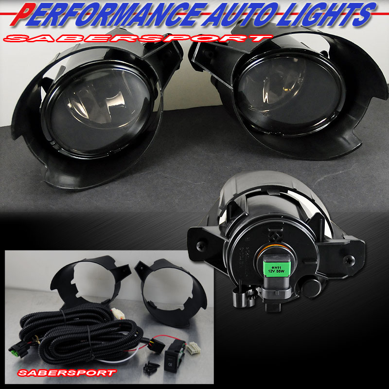 2007 2009 nissan sentra fog lights kit w switch wiring relay pair smoke lens ebay
