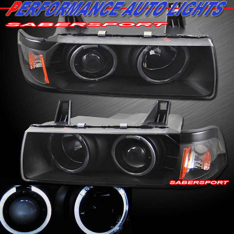 92 99 BMW E36 2DR COUPE & CONVERTIBLE ANGEL EYE HALO PROJECTOR
