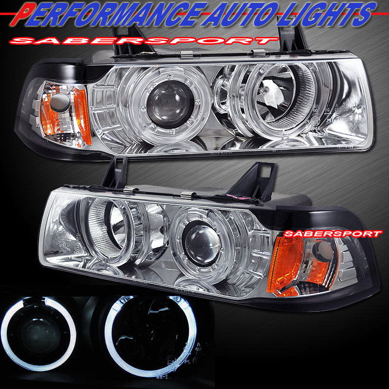 92 99 BMW E36 Coupe Convertible Dual Angel Eyes Halo Projector