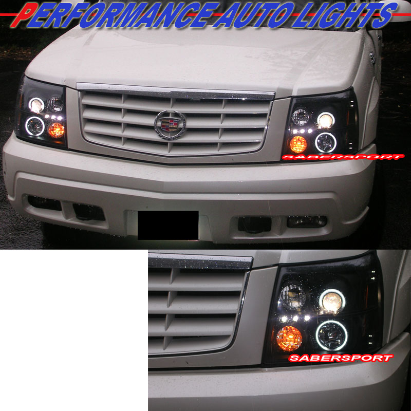 2003-2006 CADILLAC ESCALADE CCFL HALO PROJECTOR HEADLIGHTS