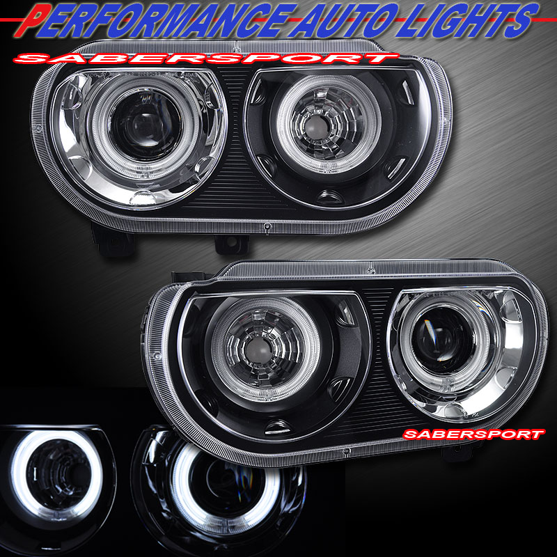 2008 2014 Dodge Challenger Ccfl Halo Projector Headlights