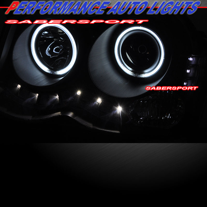 2008 2010 GRAND CHEROKEE CCFL HALO PROJECTOR HEADLIGHTS w/ LED PARKING