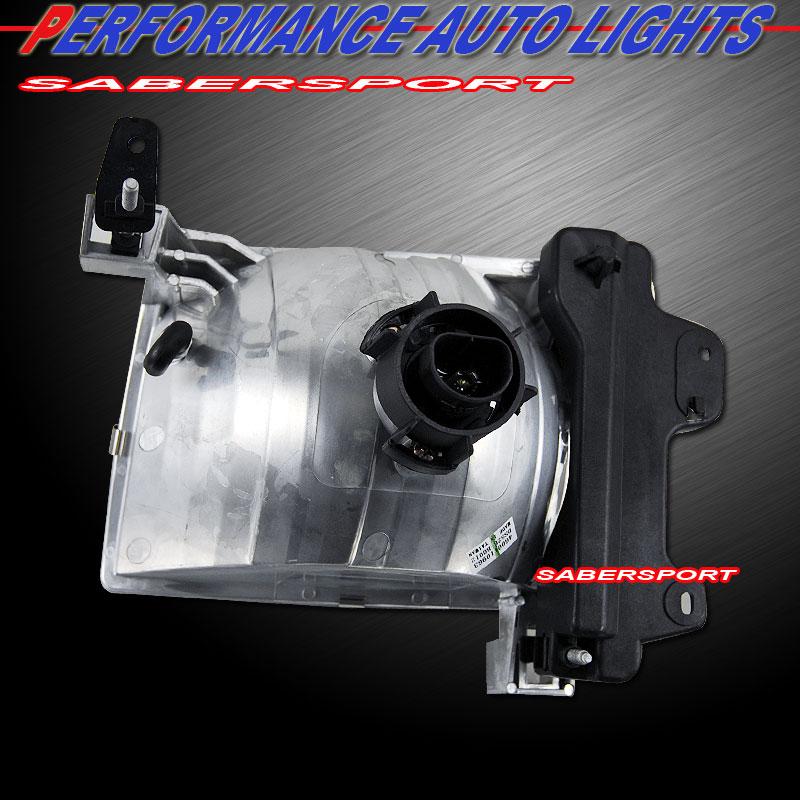 Pair Euro Clear Lens Headlights Bulbs Included For 1998