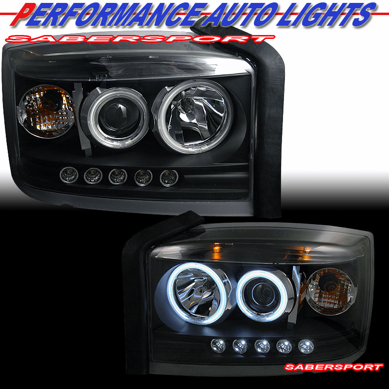 Dual angel eyes halo projector headlights w led black ebay autos weblog