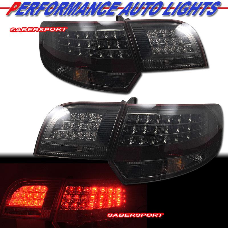 """2006-2008 AUDI A3 """"L.E.D."""" LED TAIL LIGHTS W/ TRUNK 4PCS"""