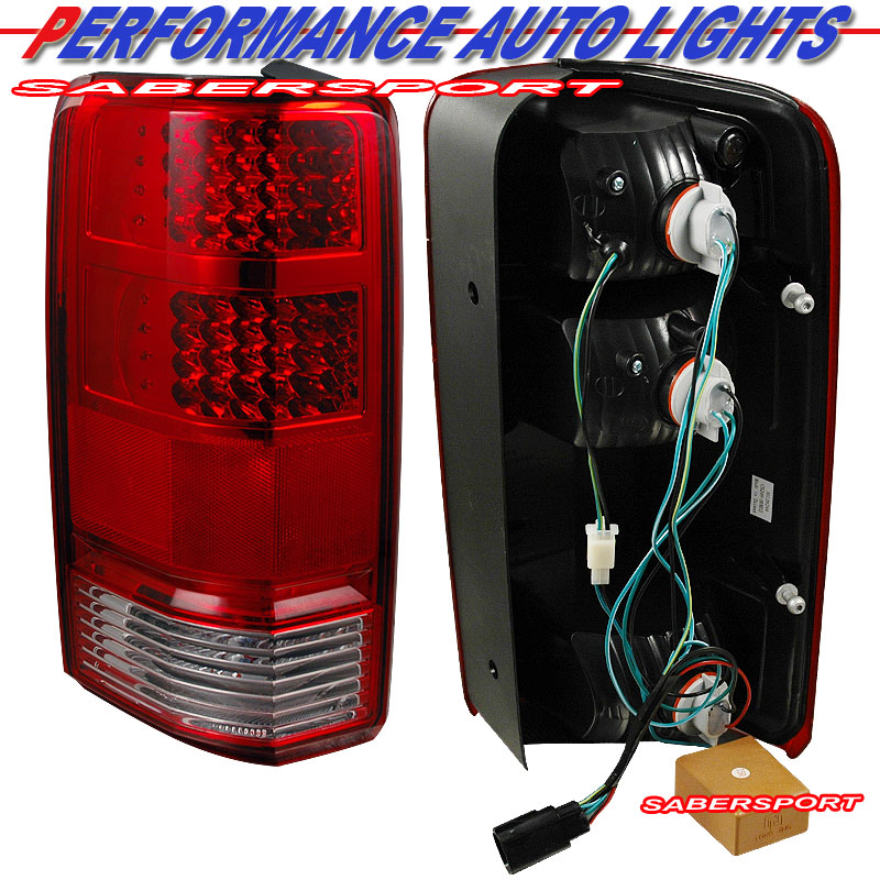 07 11 dodge nitro 4x2 4x4 l e d tail lights led red. Black Bedroom Furniture Sets. Home Design Ideas