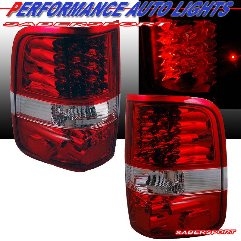 2004 2008 ford f150 l e d tail lights led red 3rd. Black Bedroom Furniture Sets. Home Design Ideas