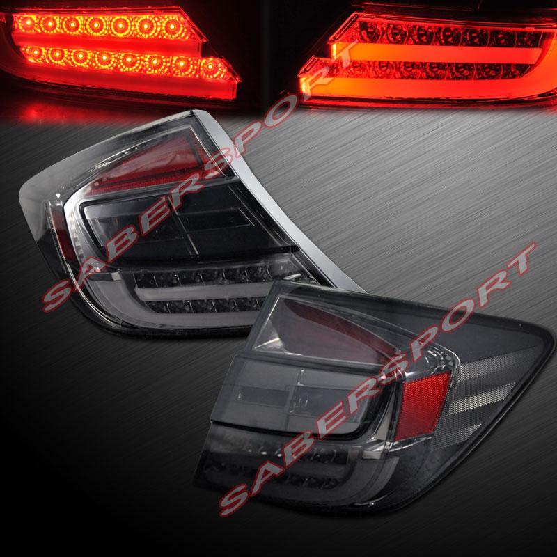 2012 Honda Civic 4dr Sedan Quot L E D Quot Tail Lights Smoke New