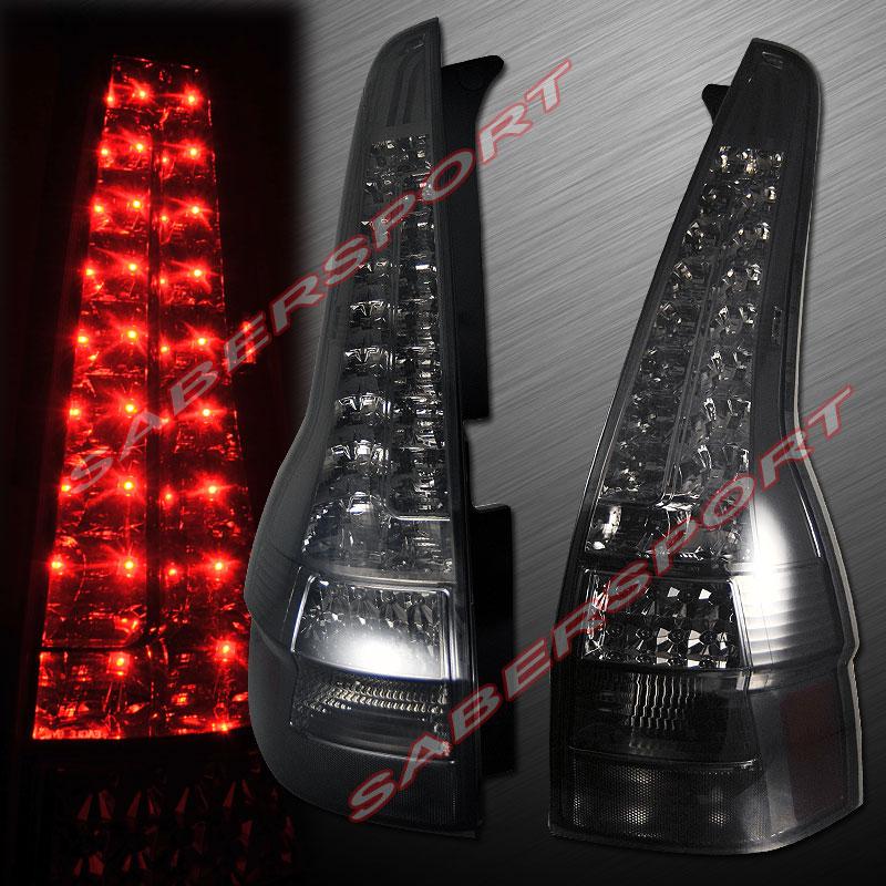 "2007-2011 HONDA CR-V ""L.E.D."" TAIL LIGHTS LED SMOKE PLUG n PLAY 07 08 09 10 11   eBay"